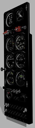 Bell 47G-2A Instrument Panel v9